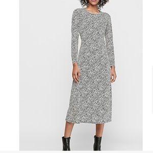 Dot Print Knit Midi Dress small NWT